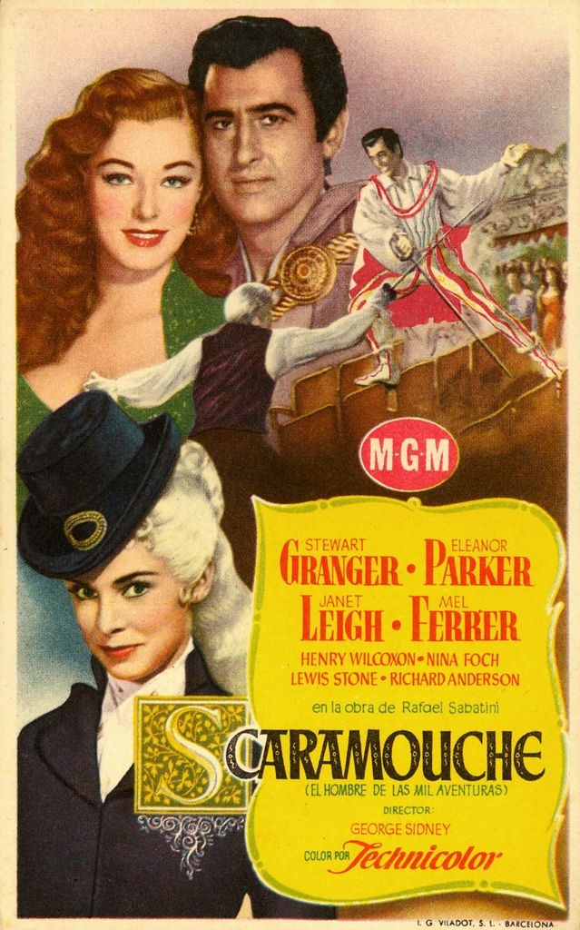 Scaramouche! Awesome movie, but Stewart Granger looks so much like Nicholas Cage... I wonder why no one has ever mentioned it before, I wonder if they're related!?