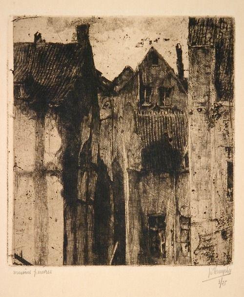 Jules De Bruycker VIEILLES MAISONS BRUXELLES 1920