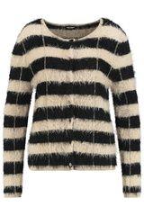 Gerry Weber - gestreepte blazer met harig effect #harig #fluffy #fall16 #winter17 #fashion #trend #hairy #boucle