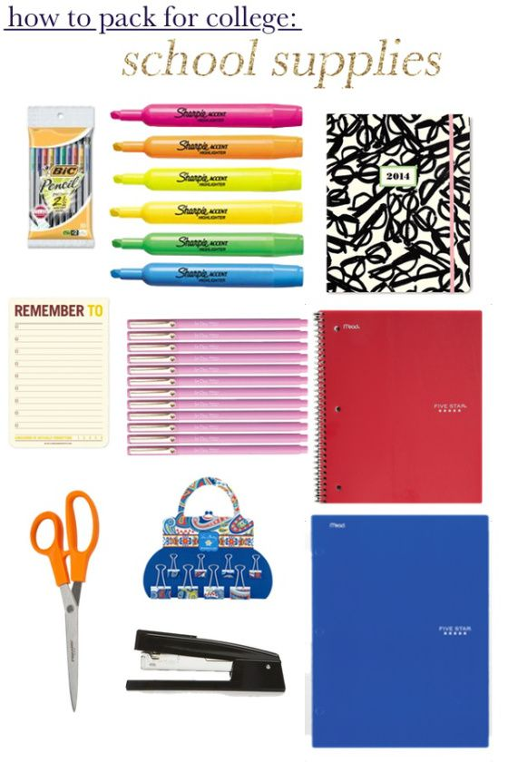 How To Pack For College: School Supplies