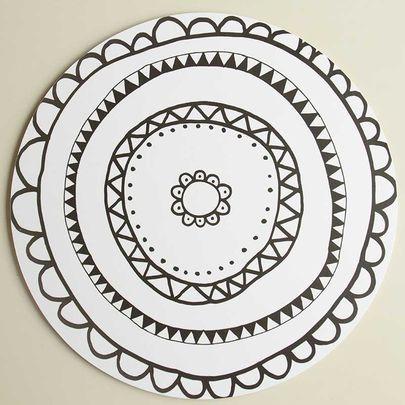 Aura-kakkualusta mustavalkoinen, iso / Aura cake plate 30 cm / Käpynen