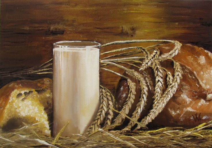 Bread and milk by methosw.deviantart.com on @deviantART