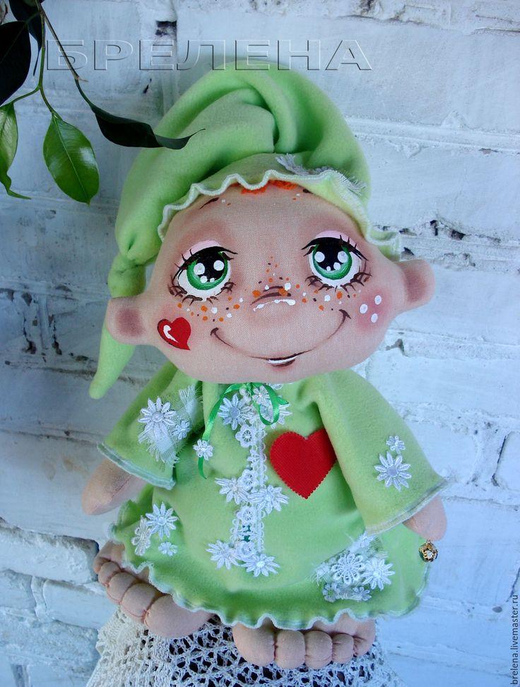 Купить Большой Сплюх Рыжик - волшебных снов хранитель.Текстильная кукла. - текстильная кукла