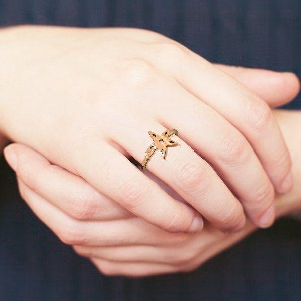 #3dprinted Star Ring by Elena Indolfi #Zazzy