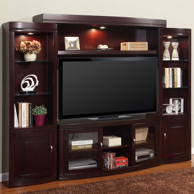 Premier Biscayne Merlot 4 Piece Entertainment Wall