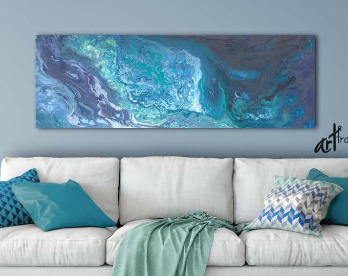 Aqua Bedroom Wall Art Teal Blue Gray White Abstract Canvas Etsy In 2020 Large Canvas Wall Art Teal Wall Art Wall Art #teal #wall #art #for #living #room