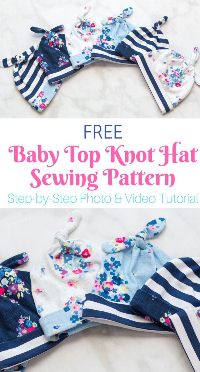 Double Top Knot Baby Mütze Gratis Schnittmuster   – DIY Nähideen und Schnittmuster / sewing patterns