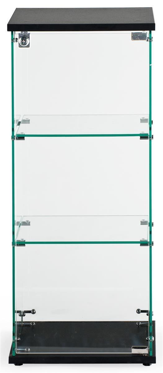 Countertop Display Case w/ Tempered Glass Shelves & Locking Door