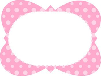 FREE Polka Dot Frames - Commercial & Personal Use #clipart
