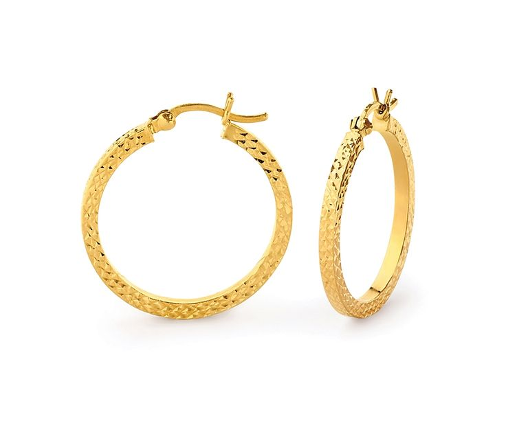 20mm Diamond Cut Hoops, Earrings, SJ2870