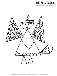 bird coloring pages - Fill In Coloring Pages