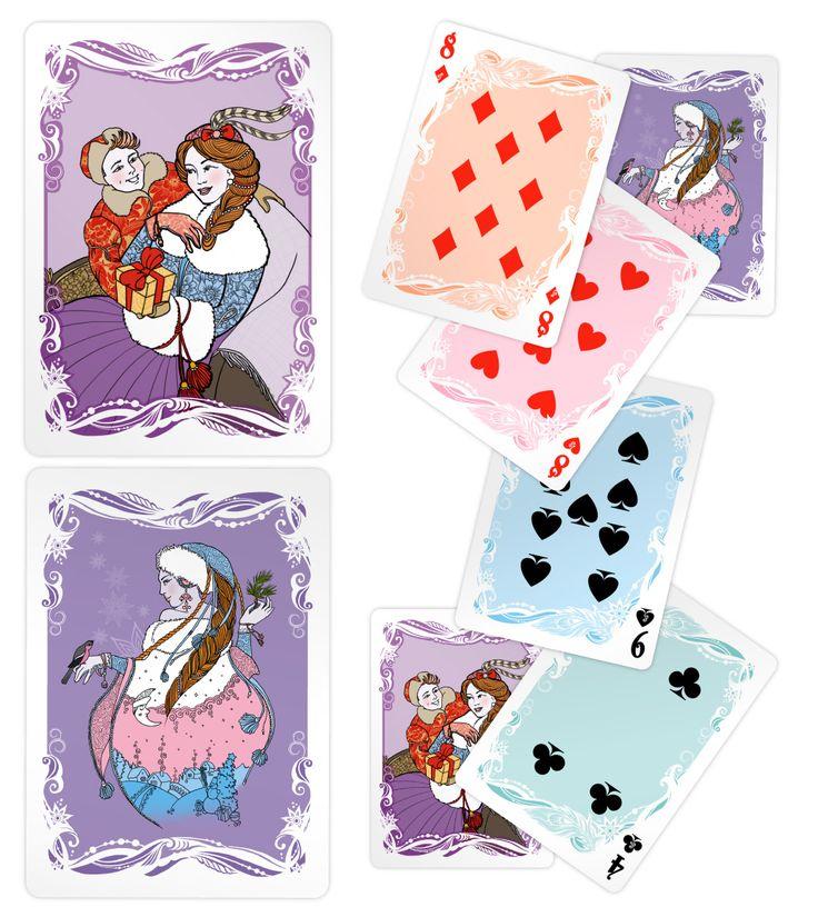 New Year playing cards. Новогодняя колода карт в стиле «А-ля Рюс»