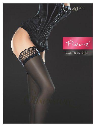 #Ciorapi cu banda adeziva #Fiore Contessa 40 den