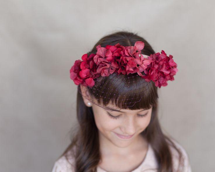 little / ceremonial headpieces / comunion / tiara / missdiademas.com / floral crown / coronas de flores / wedding / boda / girls /