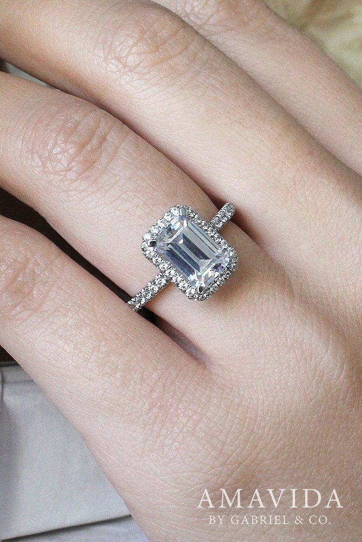 best 25 emerald cut engagement rings ideas on pinterest. Black Bedroom Furniture Sets. Home Design Ideas