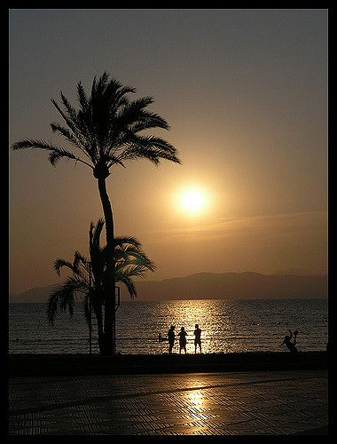 Sunset in El-Arenal Mallorca