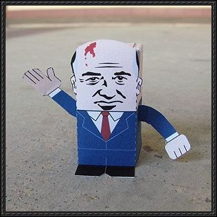 mikhail gorbachev free paper toy download httpwwwpapercraftsquarecom