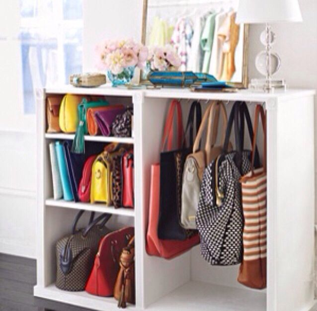 bags organization closet organize pinterest kleiderschrank ideen kleiderschr nke und. Black Bedroom Furniture Sets. Home Design Ideas