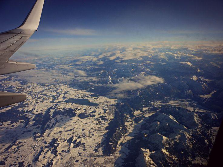 In volo, fine delle Alpi