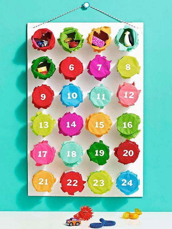 punchy advent calendar for a christmas countdown, Make Advent Calendars for Christmas, http://hative.com/make-advent-calendars-for-christmas/,