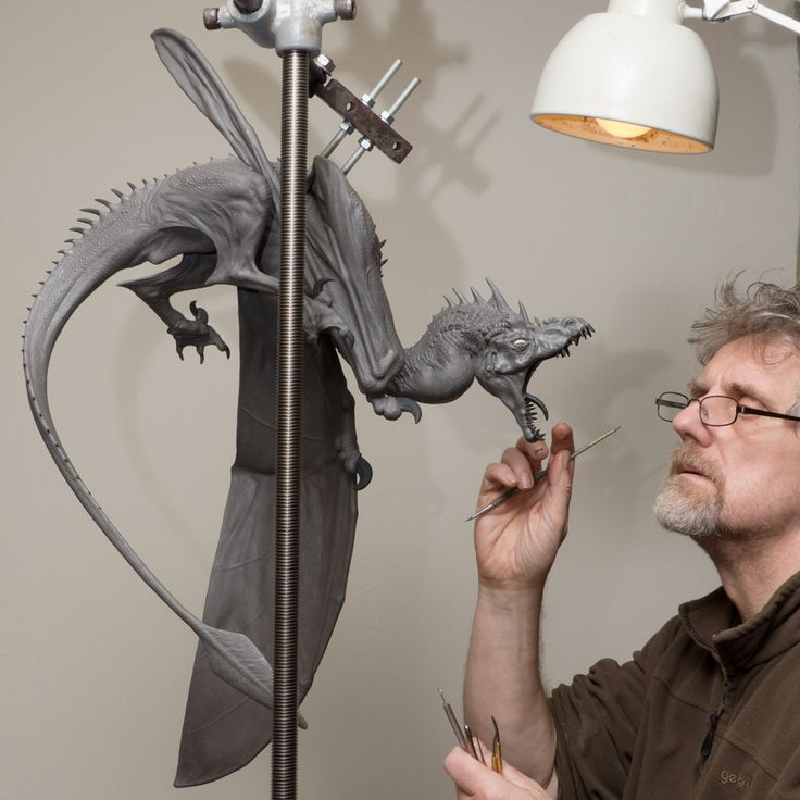 Bronze Dragon Sculpture (Firedrake) by Nick Bibby. A hyper-realistic 1/12th scale sculpture of a Dragon. If Dragons were real, they would look like this!!!