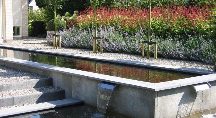 25 beste idee n over tuin indelingen op pinterest for Spiegelvijver maken