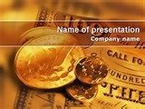 Money USA template suitable for PowerPoint presentations on bank accounts, money, financial