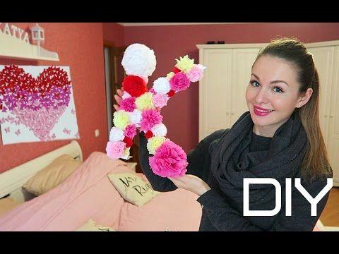 DIY Cердце из бабочек, Буква из цветов и Гирлянда, Декор из фото - YouTube