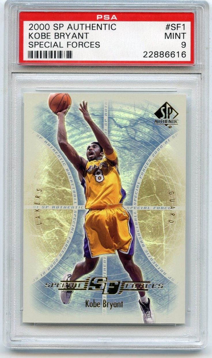 "2000-01 SP AUTHENTIC #SF1 KOBE BRYANT ""SPECIAL FORCES"" LAKERS - PSA 9 (86616)"
