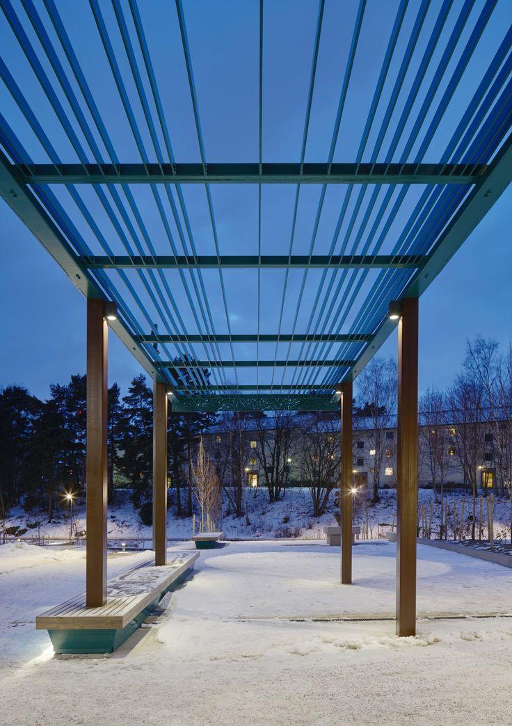 /Tyresö city park/ lighting design by Black ljusdesign - Park lighting - Lighting design - Public spaces -