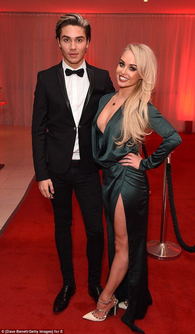 Reunited: Jorgie Porter and George Shelley reunited at E!'s Golden Globe awards watch alon...