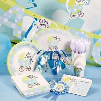 14 best images about baby boy baby shower theme on for Baby shower decoration stores