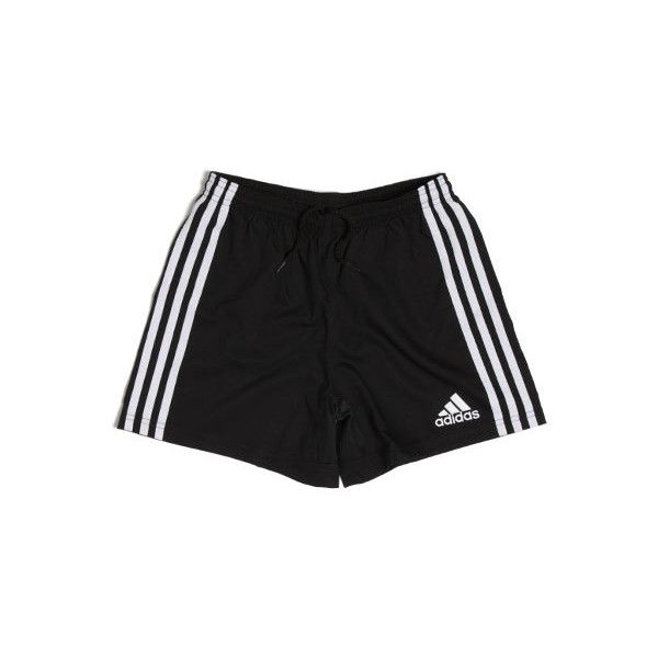 Rugby Team Wear 3 Stripe Shorts Kids Blk/Wht (£9.99) ❤ liked on Polyvore featuring shorts, bottoms, black und pants