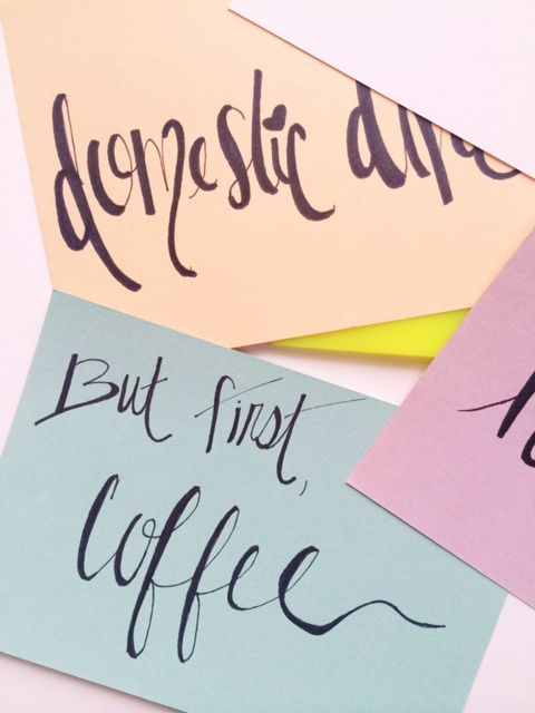 The Domestic Diva Diaries :: DIY Faux Calligraphy