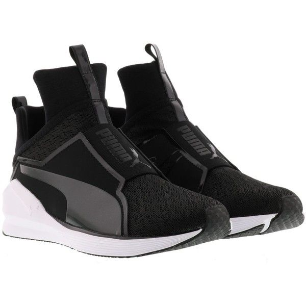 Puma Fierce Sneakers ($78) ❤ liked on Polyvore featuring shoes, sneakers, black white, puma shoes, black and white shoes, white and black shoes, black white sneakers and puma trainers
