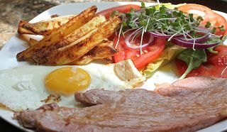Simply GAMMON, EGG & CHIPS. Eating great food while losing weight should be your first aim.