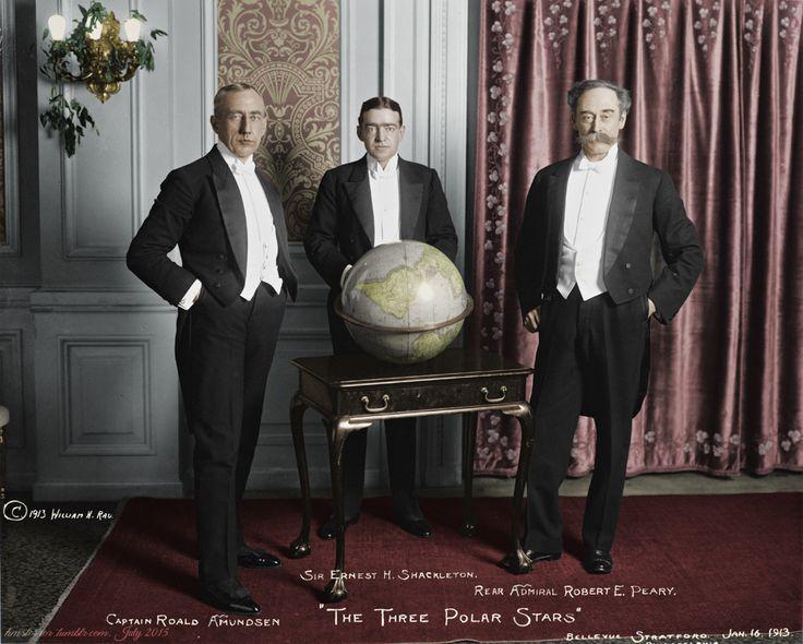 The Three Polar Stars: Roald Amundsen, Ernest Shackleton, and Robert Peary, in Philadelphia, January 1913Original