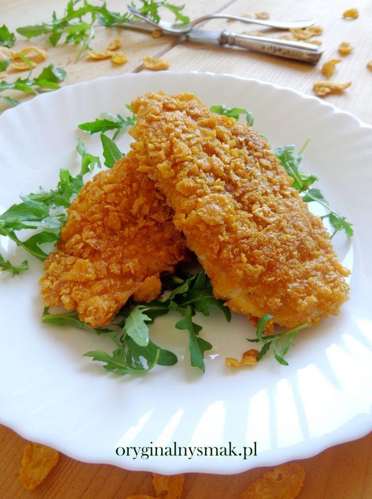 Piersi z kurczaka w płatkach kukurydzianych | Oryginalny smak