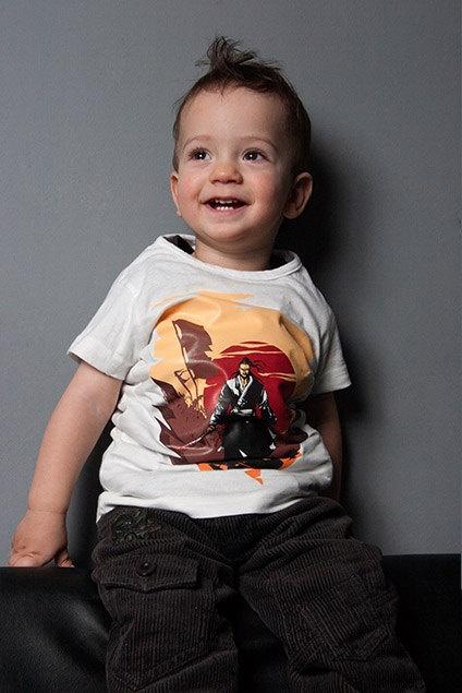 Last Man Standing Samurai Tee Baby Lap T. $18.00, via Etsy.