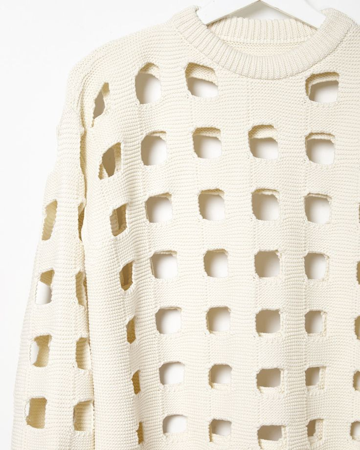 MAISON MARGIELA LINE 1 | Punch-Out Knit Sweater | Shop at La Garçonne
