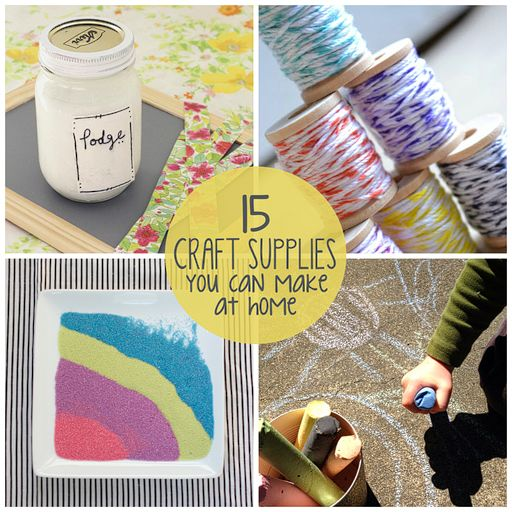 15 craft supplies you can make at home via for Make crafts at home for money