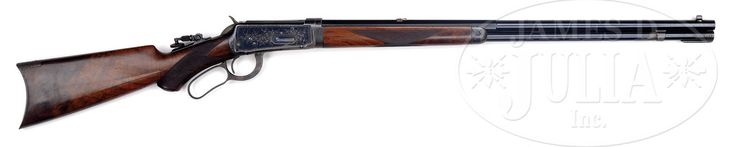 SCARCE DELUXE FACTORY ENGRAVED WINCHESTER MODEL 1894 TAKEDOWN LEVER ACTION RIFLE.
