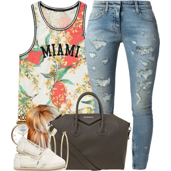 A fashion look from March 2015 featuring Forever 21 tops, Faith Connexion jeans and TOMS shoes. Browse and shop related looks.