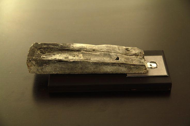 Giorgos Papadatos,  Notes on a transitional monument  Wood, photocopy, soap  20X10X7 cm,  2013