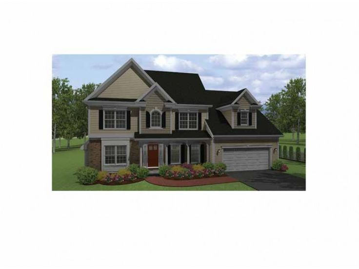 Colonial style house plan 3 beds 25 baths 1951 sqft