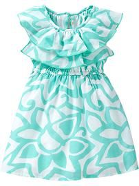 Toddler Girl Clothes: Dresses | Old Navy  I just adore their kid's clothing! This dress is super cute and comes in pink also!