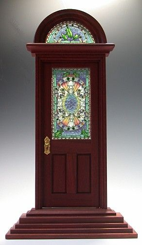 door for doll house: Miniature Dollhouses, Glass Doors, Dollhouses Minis Inspiration, Dollhouse Windows, Antique Stained, Dollhouse Doors, Dollhouse Miniatures, Miniatures Dollhouse Toys, Craft Dollhouses