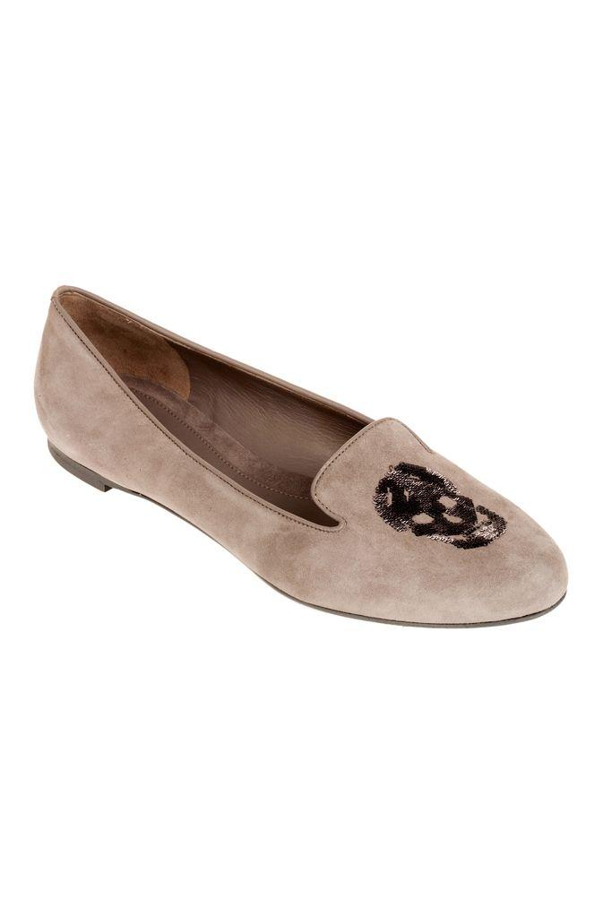Alexander McQueen Flat shoes calfskin Glitter