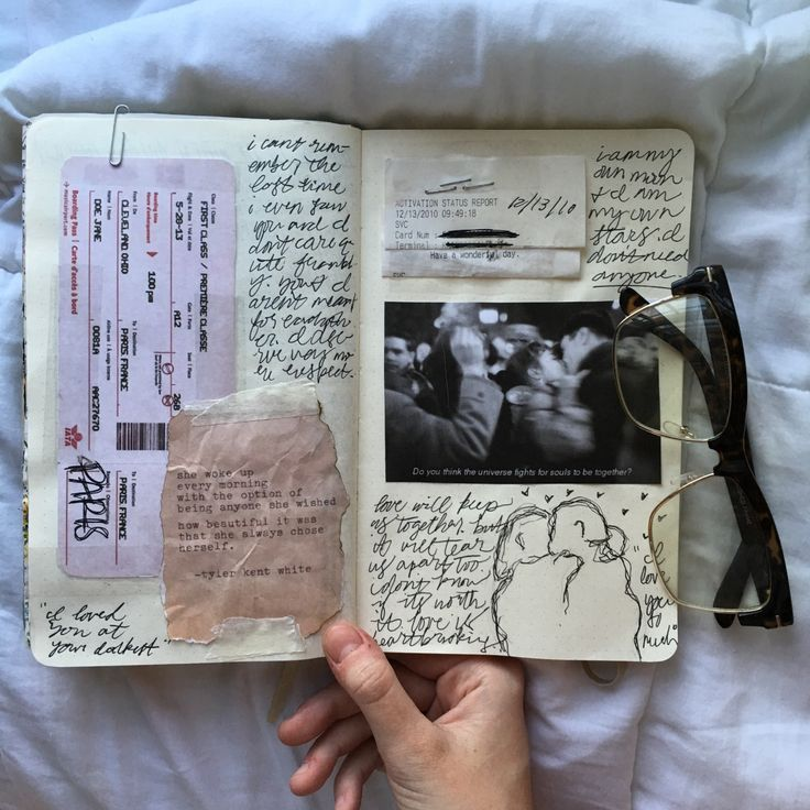 I love the art and life and messiness and beauty that is this journal. It is the raw experience in your pocket.