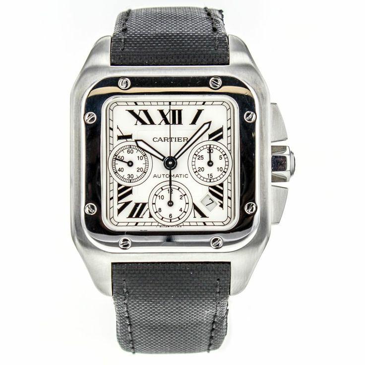 Cartier Santos 100 XL W20090X8 Stainless Steel Automatic Chronograph Men's Watch #Cartier #LuxurySportStyles